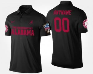 Alabama Customized Polo Sugar Bowl #00 Bowl Game Black Men's 292653-681