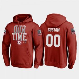 2018 Orange Bowl Bound Alabama Customized Hoodie #00 Men College Football Playoff Counter Crimson 650950-471