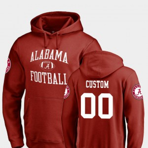 #00 Crimson Neutral Zone For Men's Alabama Customized Hoodie College Football 992016-457