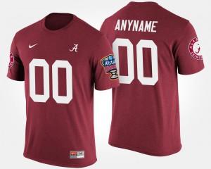 Alabama Custom T-Shirts Bowl Game Crimson Sugar Bowl #00 Mens 295738-611