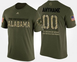 #00 For Men Military Alabama Custom T-Shirts Camo Short Sleeve With Message 824108-247