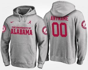 Gray Alabama Customized Hoodie #00 Men's 706737-200