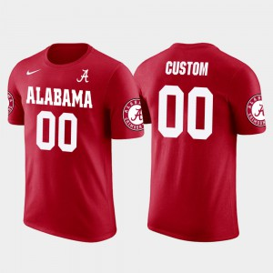 Future Stars For Men Cotton Football Alabama Customized T-Shirts Red #00 943949-951