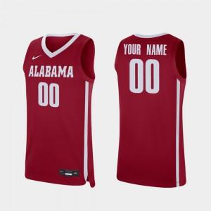 #00 Men Replica Alabama Custom Jerseys Crimson College Basketball 200929-725