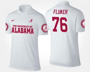 D.J. Fluker Alabama Polo For Men's #76 White 703558-875
