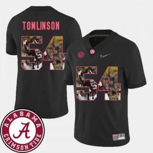 Men's Black Dalvin Tomlinson Alabama Jersey Pictorial Fashion #54 Football 210038-604