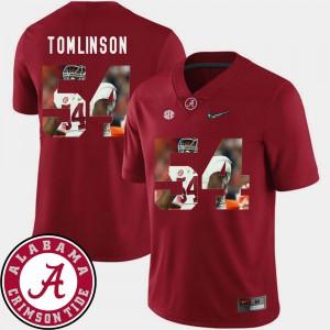 Pictorial Fashion Dalvin Tomlinson Alabama Jersey #54 Men's Football Crimson 348668-211