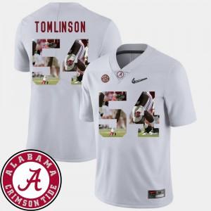 Dalvin Tomlinson Alabama Jersey Football For Men Pictorial Fashion White #54 390206-708