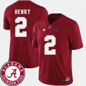 Men's College Football 2018 SEC Patch Derrick Henry Alabama Jersey #2 Crimson 111709-319