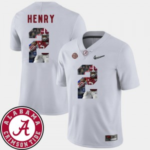 #2 Derrick Henry Alabama Jersey Pictorial Fashion White Men Football 372952-855