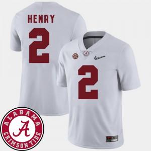 College Football White #2 Derrick Henry Alabama Jersey 2018 SEC Patch Men 790109-114