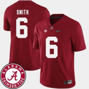 #6 Crimson College Football Men 2018 SEC Patch DeVonta Smith Alabama Jersey 269422-847