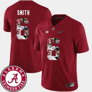 DeVonta Smith Alabama Jersey Pictorial Fashion Men Crimson #6 Football 557592-884