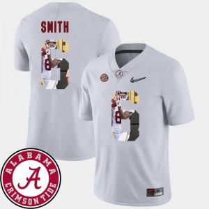 Pictorial Fashion #6 DeVonta Smith Alabama Jersey Football Men White 633395-614