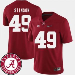 2018 SEC Patch Crimson Mens Ed Stinson Alabama Jersey #49 College Football 140543-673