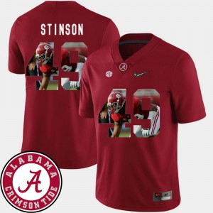Football #49 Ed Stinson Alabama Jersey Pictorial Fashion Mens Crimson 370021-745