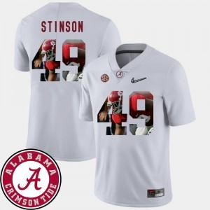 Pictorial Fashion Men White Football Ed Stinson Alabama Jersey #49 724865-120