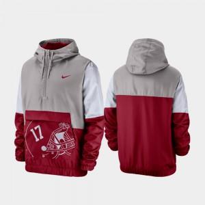 Gray Quarter-Zip Colorblock Anorak Alabama Jacket For Men 996715-957