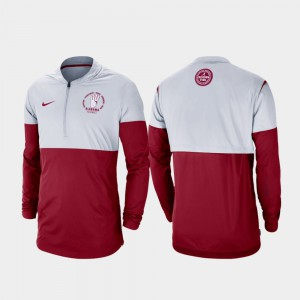 Rivalry Gray Crimson Alabama Jacket Football Half-Zip For Men 992416-412