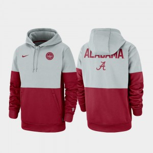 Therma Performance Pullover Alabama Hoodie Gray Crimson Rivalry For Men's 307370-777