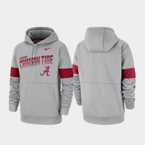 Alabama Hoodie Gray Performance Men Pullover 497714-561