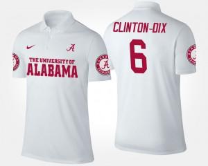 For Men's #6 White Ha Ha Clinton-Dix Alabama Polo 218363-518