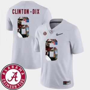 White Pictorial Fashion Football For Men's #6 Ha Ha Clinton-Dix Alabama Jersey 347975-503