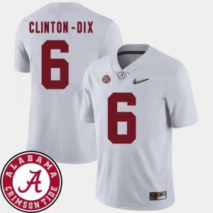 College Football Ha Ha Clinton-Dix Alabama Jersey White #6 2018 SEC Patch For Men 707731-762