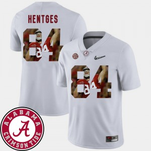 Football Pictorial Fashion #84 Mens Hale Hentges Alabama Jersey White 779473-843