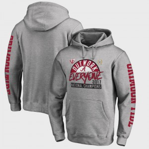 College Football Playoff 2017 National Champions Motion Alabama Hoodie Heather Gray Bowl Game Men's 579459-774