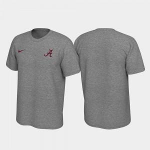 Mens Heathered Gray Alabama T-Shirt Legend Left Chest Logo 669048-536