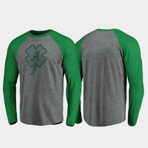 Alabama T-Shirt St. Patrick's Day For Men Raglan Long Sleeve Celtic Charm Heathered Gray 397235-668