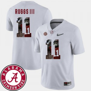 Henry Ruggs III Alabama Jersey White Football #11 Pictorial Fashion For Men's 252861-333