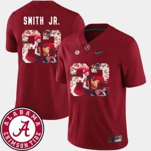 Crimson Football For Men's #82 Irv Smith Jr. Alabama Jersey Pictorial Fashion 660238-364