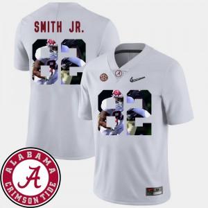 For Men Pictorial Fashion Football Irv Smith Jr. Alabama Jersey #82 White 669113-782