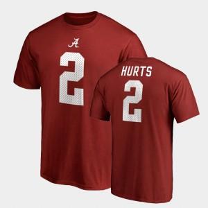Mens Crimson College Legends #2 Name & Number Jalen Hurts Alabama T-Shirt 891390-687