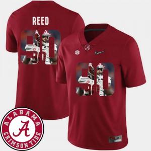 Jarran Reed Alabama Jersey Football Pictorial Fashion #90 Crimson Men 460182-645