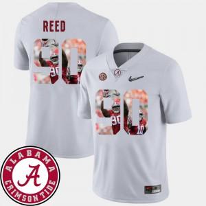 Jarran Reed Alabama Jersey For Men's Football White #90 Pictorial Fashion 188356-910