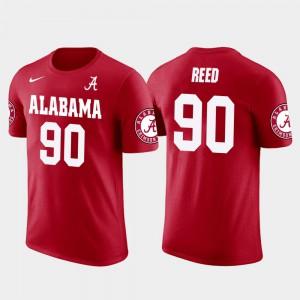 Mens Future Stars #90 Seattle Seahawks Football Jarran Reed Alabama T-Shirt Red 255477-573