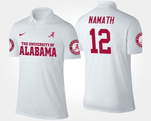 White Joe Namath Alabama Polo Men #12 336959-747