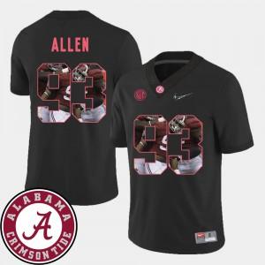 Jonathan Allen Alabama Jersey Black Football Pictorial Fashion #93 For Men 586448-627