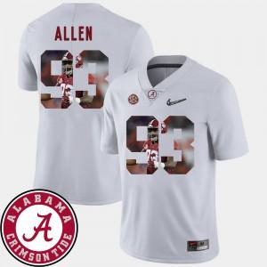 Pictorial Fashion #93 Football Mens White Jonathan Allen Alabama Jersey 741474-712