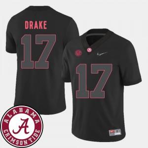 Kenyan Drake Alabama Jersey For Men Black College Football 2018 SEC Patch #17 136069-295