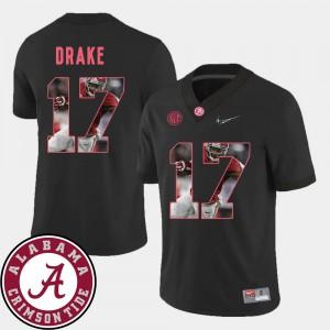 Kenyan Drake Alabama Jersey Football #17 Pictorial Fashion Black Men's 873995-668