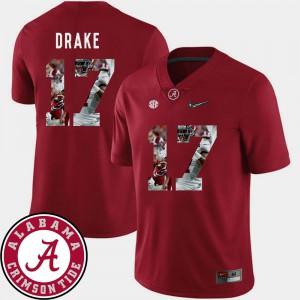 Pictorial Fashion For Men Crimson Football #17 Kenyan Drake Alabama Jersey 624047-203