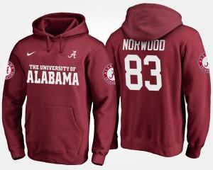 Kevin Norwood Alabama Hoodie Men #83 Crimson 634928-299