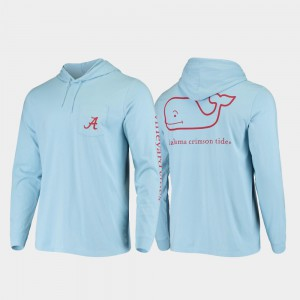 Whale Hooded Long Sleeve Light Blue Mens Alabama T-Shirt 168077-374
