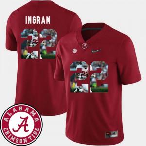 Pictorial Fashion Mark Ingram Alabama Jersey Football Crimson #22 Mens 715537-291