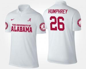 Marlon Humphrey Alabama Polo White Men #26 309834-731