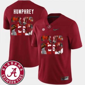 #26 Men Marlon Humphrey Alabama Jersey Football Pictorial Fashion Crimson 276496-742